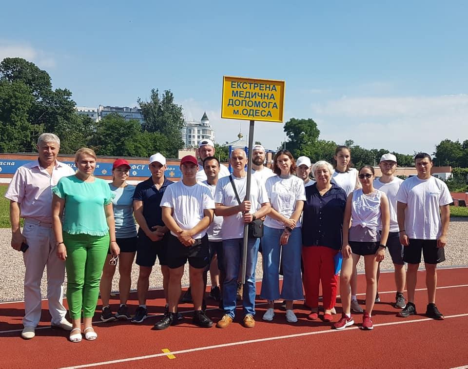 Медики Одещини всіх здивували на бігових доріжках стадіону «Динамо»
