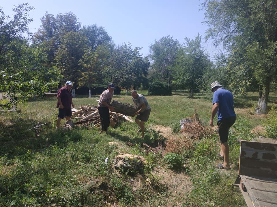 На Одещині дрова від сухостою з парку села громада віддала довгожителям «90+»